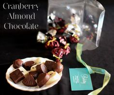 enjoy the mélange of cranberries and roasted almonds as the stuffed chocolate mousse melts in your mouth