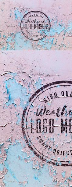 Weathered #Logo #Mockup #PSD