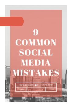 9 common social media mistakes that you should avoid. Content Marketing, Affiliate Marketing, Internet Marketing, Social Media Marketing, Marketing Strategies, Online Marketing, Marketing Report, Marketing Companies, Digital Marketing