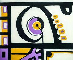 임현숙 작가는 다년간의 유리 모자이크 예술창작을 통해 색채 배치와 기하학 구도상의 경험을 축적함으로써 독창적인 회화 풍격을 형성하였다. 이처럼 새로운 시리즈의 회화는 색채가 선명, 발랄하고 단계가 분명하며 음악과도 같은 리듬감이 넘쳐난다. 이러한 특징들이 각각의 작품 사이에서 서로 호응하고 있다.   칸의 변주곡1, 53x45.5cm, Acrylic on Canvas, 2014, 임현숙