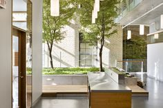 Interior garden on the third floor of The Donelly Centre for Cellular and Biomolecular Research, Toronto, ON, Canada