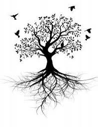 Whole black tree with roots - vector. Whole black tree with roots isolated white , Tattoo Life, Diy Tattoo, Tattoo Ideas, Wrist Tattoo, Tree Roots Tattoo, Bodhi Tree Tattoo, Tree Tattoo Meaning, Roots And Wings, Vector Trees