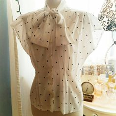 SOLD Check out this item in my Etsy shop https://www.etsy.com/listing/272399640/pretty-tapered-polka-dot-blouse