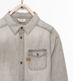 Image 3 of GREY DENIM SHIRT from Zara