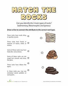 Worksheets: Types of Rocks: Quiz