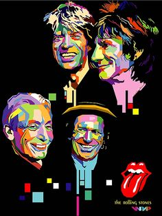 The Rolling Stones - pop art