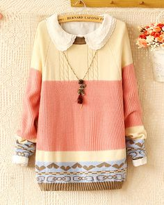 Kawaii Sweet Knit fashion pink Sweater sold by Fashion Store. Shop more products… Parisienne Chic, Loose Sweater, Pink Sweater, Knit Fashion, Sweater Fashion, Fall Outfits, Cute Outfits, Womens Fashion Stores, Europe Fashion
