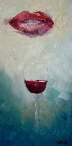 Red 8 x 16 Original Impressionistic Style by BillWerleFineArt,