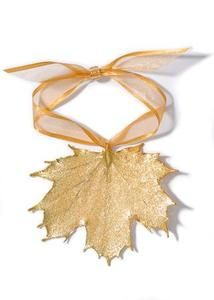 Real Maple Lace Leaf Ornament to base the ornament on