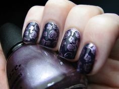 Black with purple floral