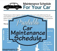 Printable Car Maintenance Schedule