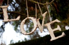Hang from a tree - voila! Wedding Sash, Rustic Wedding, Our Wedding, Dream Wedding, Wedding Ideas, Wedding Places, Wedding Signs, Christmas Wreaths, Christmas Ornaments