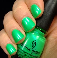 bought this yesterday...love it! China Glaze - In the Limelight (Neon)