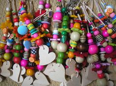 colourful handmade keyrings I love making these and giving them to friends and family they always make people smile :)