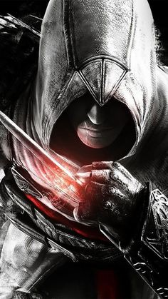 Assassins Creed Dark Game Hero Illustration Art Android wallpaper