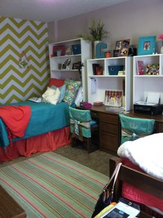Pillowcases as a way to decorate chairs! Good idea!