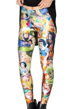 Snow White Leggings by Black Milk Clothing $85AUD