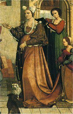 En el siglo XV  la saya era un vestido para llevar a cuerpo. Siempre iba ajustada al pecho y siempre era talar.          Saya o gonela enc...