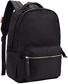 HawLander Women's Backpack School Bag Nylon Daypack Lightweight and Waterproof Fits 14 Inch Laptop Black One Size Cheap Backpacks, School Backpacks, My School Life, Black Backpack, Women's Backpack, Thing 1, School Bags For Girls, Shoulder Backpack, Nylon Bag
