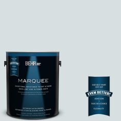 BEHR MARQUEE 1-gal. #490E-2 Delicate Mist Satin Enamel Exterior Paint