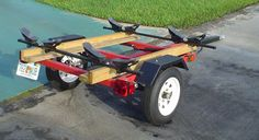 A Bamboo Bicycle Trailer Diy Pinterest Trailer Plans And