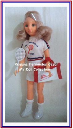 Boneca Jenny Maravilha Tenis, Atma, 1979 #muñeca #Clania #antiga #Atma #doll #70's