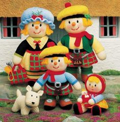 Jean Greenhowe knitted Scottish Family