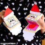Printable Santa Paper Puppet