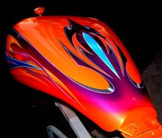 Epic Firetruck's Motor'sicle Paint ~ - ℛℰ℘i ℕnℰD by Averson Automotive Group LLC Custom Motorcycle Paint Jobs, Custom Paint Jobs, Custom Art, Automotive Group, Automotive Art, Car Painting, Mural Painting, Paint Bike, Motorcycle Tank