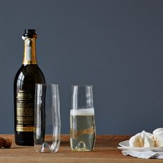 Pop the bubbly, life is lovely. $66 for set of 2 glasses. From Food52