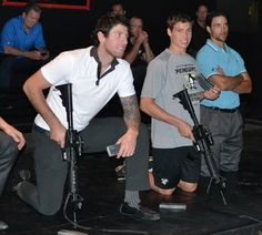 "James Neal's new sleeve tattoo gets upstaged by Beau Bennett doing ""nervous middle school face"" while holding a sniper rifle."