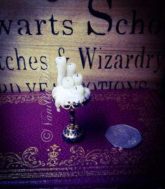 1:12 Dollshouse miniature candle stand By Vanilla Heart