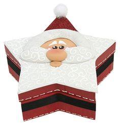 Caja de Santa Claus / Rojo  / Navidad 2014 / Adorno / Decoración / Caja de madera / estrella