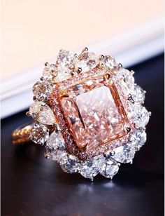 💖 36 Rare, Fancy Pink Diamond High Jewelry Pieces — - In with this amazing fancy brown from Saboo Fine Jewels that feat - Pink Diamond Jewelry, Pink Jewelry, Diamond Heart, Diamond Rings, Diamond Pendant, Beautiful Rings, Colored Diamonds, Fancy, Buy Diamonds
