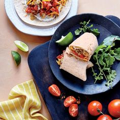 Turkey Taco Burritos | Speedy assembly and bold, familiar flavors earn these burritos a regular place in the dinner rotation. For an extra boost, char the tortillas on a stovetop burner before you assemble the burritos.
