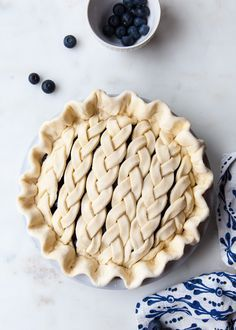 Blackberry and Blueberry Braided Pie