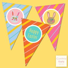 Easter Bunny Party Banner // Holiday Party by #CynthiaKatzDesign #easter #forkids