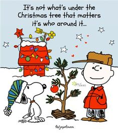 Charlie Brown Christmas. It's not what's under the Christmas tree that matters; it's who's around it...