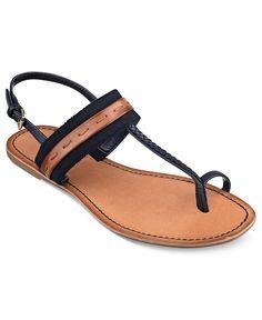 edfe30d8b61a0 Tommy Hilfiger Brynn Flat Thong Sandals Shoes - Macy s
