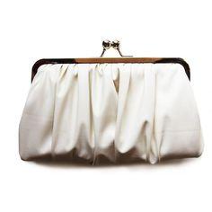 Ivory Braut Clutch  .. Öko-Leder von Cuteandunique auf DaWanda.com