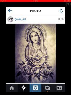 Chicano art, tattoo ideas, tattoo, tattoos, lowrider, low rider art, lowrider… Head Tattoos, Body Art Tattoos, Sleeve Tattoos, Tattoo Neck, Chest Tattoo, Catholic Tattoos, Religious Tattoos, Frases Para Tattoo, Madonna Tattoo