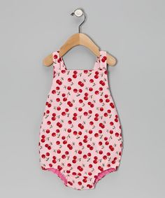 Oopsy Daisy Baby--Pink Cherry Bubble Bodysuit