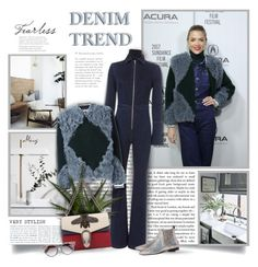 """""""Denim Trend"""" by thewondersoffashion ❤ liked on Polyvore featuring Exclusive for Intermix, Tory Burch, Wolford, Gucci, Joseph and Jimmy Choo"""
