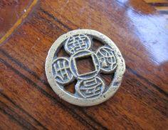 Korean Yi Dynasty Plant Coin Folk Coin Wealth and Prosperity Talisman by Gementia13Jewels, $39.00