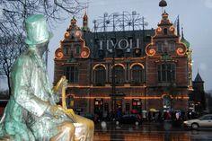 H.C.Andersen Castle and H.C. Andersen Sculpture Tivoli Copenhagen