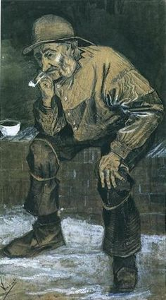 Vincent van Gogh – fisherman with sou'wester – 1883