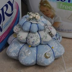 French Lace Three Tiered Pincushion by sweetbriarfamily