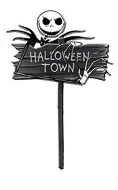 "Nightmare Before Christmas ""Halloween Town"" Jack Skellington Lawn Sign $25"