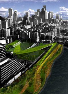 Olympic Sculpture Park, Seattle Art Museum, Seattle, WA by Weiss Manfredi Architecture/Landscape/Urbanism