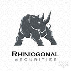 Strong rhino logo.